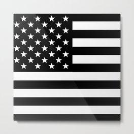 Black And White Stars And Stripes Metal Print