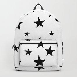 Hand-Drawn Stars (Black & White Pattern) Backpack