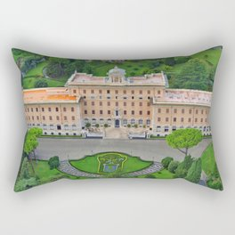 Palace of the Governorate of Vatican and the Vatican Gardens. View from the dome of St. Peter's Basi Rectangular Pillow