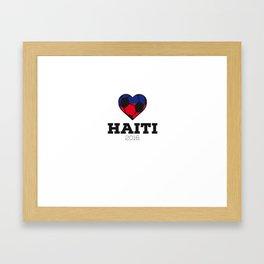Haiti Soccer Shirt 2016 Framed Art Print