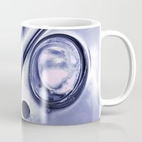 volkswagon Mugs featuring VW Beetle Classic by Martin Williams
