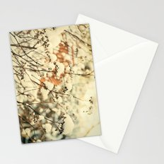 Vintage bush in the Snow Stationery Cards