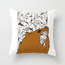 Bearly here Throw Pillow