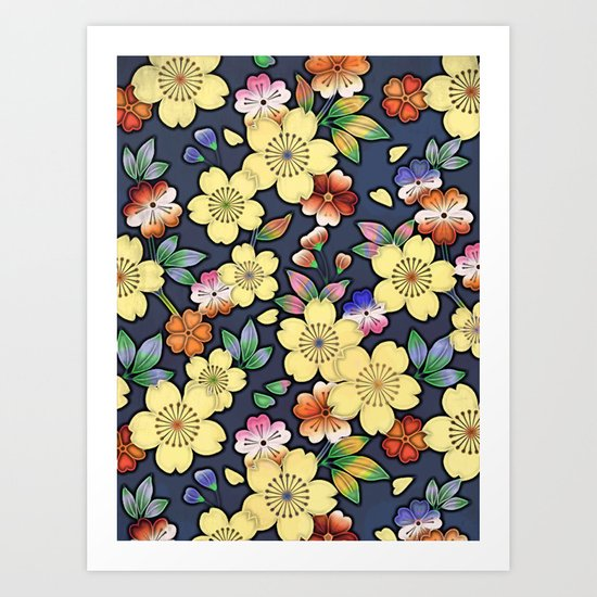 Blossom Yellow Art Print