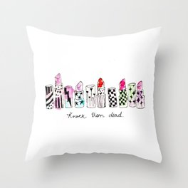 Knock them dead Throw Pillow