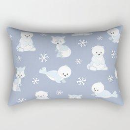 ARCTIC FRIENDS (blue) Rectangular Pillow