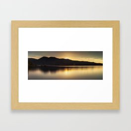 Comox lake BC Framed Art Print