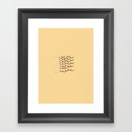 Half Linked Framed Art Print