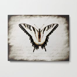 Rustic Butterfly Modern Cottage Chic Country Home Decor A475 Metal Print
