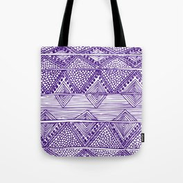 Abstract blue digitised hand drawing art Tote Bag