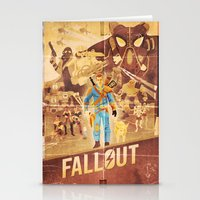 fallout Stationery Cards featuring FALLOUT FAN ART by Salty!
