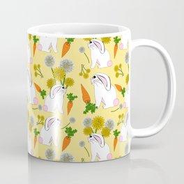 Rabbit Food Bunnies Carrots Dandelions Coffee Mug