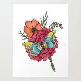 Color Flutter Art Print