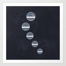 Highest Mountains on Earth Art Print