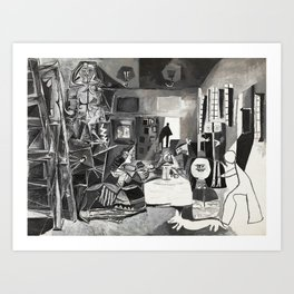 Pablo PIcasso The Maids Of Honor, Las Meninas, after Velázquez, 1957 Artwork Reproduction, Tshirts, Art Print