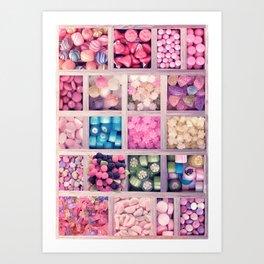 Candies Lovers Sweet Set Art Print