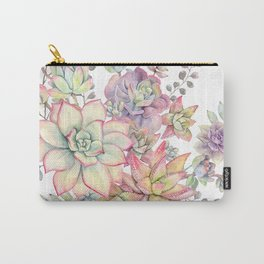succulent watercolor 18 Carry-All Pouch