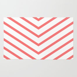 Red lines. Geometric design Rug
