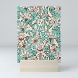 sarilmak mint brown Mini Art Print