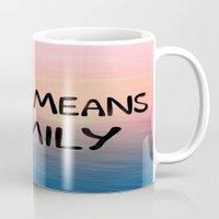 ohana Mugs featuring Ohana by Amy Copp