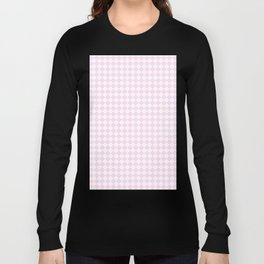 White and Pink Lace Pink Diamonds Long Sleeve T-shirt
