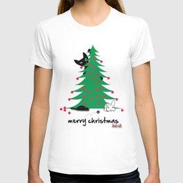 Bad Cat Christmas wish T-shirt