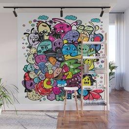 Monster friends Wall Mural