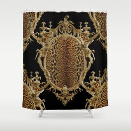 Leopard Chinoise Shower Curtain
