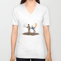 hiccup V-neck T-shirts featuring Hiccup and Jack by Mack-Beth