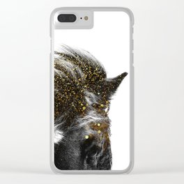 golden horse Clear iPhone Case