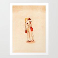 Through Love Art Print