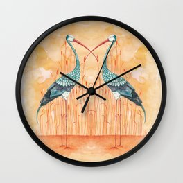 An Exotic Stork Wall Clock