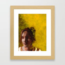 Megan, Fine Art Oil Painting Portrait Print Framed Art Print