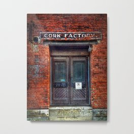 Fading Sign in Old Montreal Metal Print