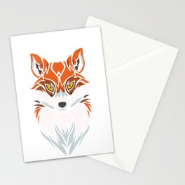 Tribal Fox - Wild Animal Art - Exotic Animals Stationery Cards