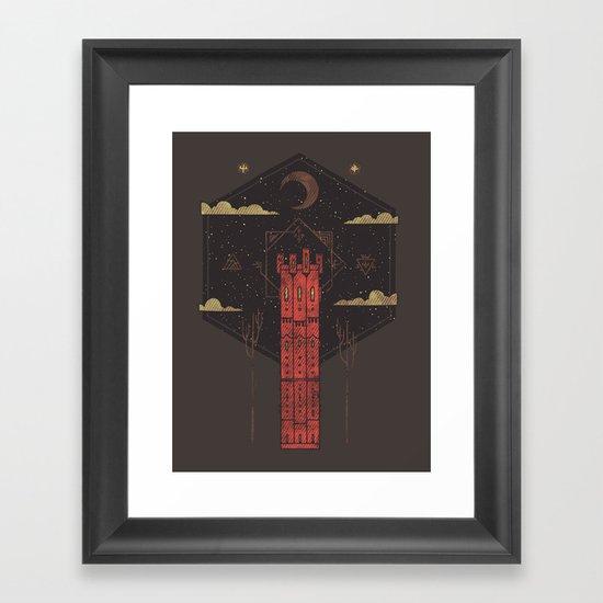 The Crimson Tower Framed Art Print