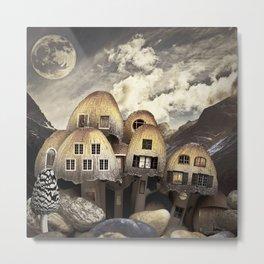 Mushrom Village Metal Print
