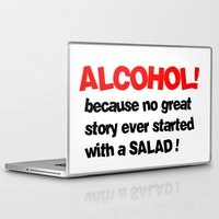 alcohol Laptop & iPad Skins featuring alcohol by Sava Miskovsky