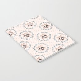 Raccoon and floral wreath Notebook