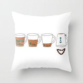 Coffee makes me smile Throw Pillow