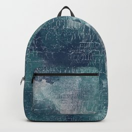 Abstract Grunge in Teal and Navy Backpack