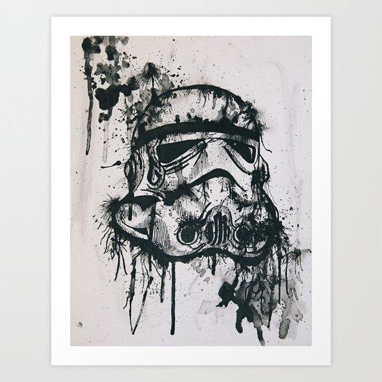 Stormtrooper Art Print by Ren Davis | Society6