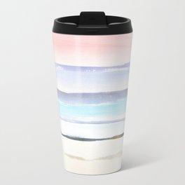 Seagull Ocean Pastels Watercolor Metal Travel Mug