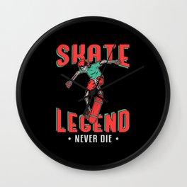 Skateboard Skater Skating Skate Legend Gift Idea Wall Clock