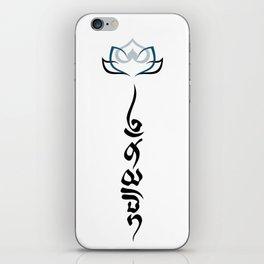 Namaste .:cold lotus iPhone Skin