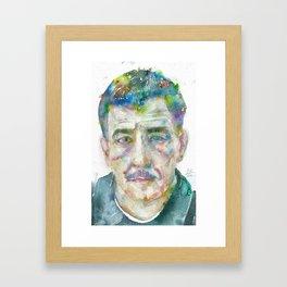 FRANZ KLINE - watercolor portrait Framed Art Print