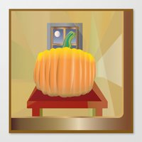 pumpkin Canvas Prints featuring Pumpkin by smoothimages