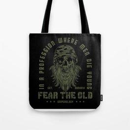Guns - Fear The Old Man Design Motif Tote Bag