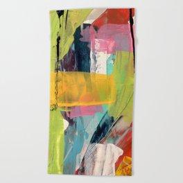 Hopeful[2] - a bright mixed media abstract piece Beach Towel