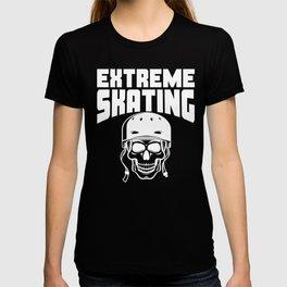 Extreme Skating Skateboarding Skull T-shirt